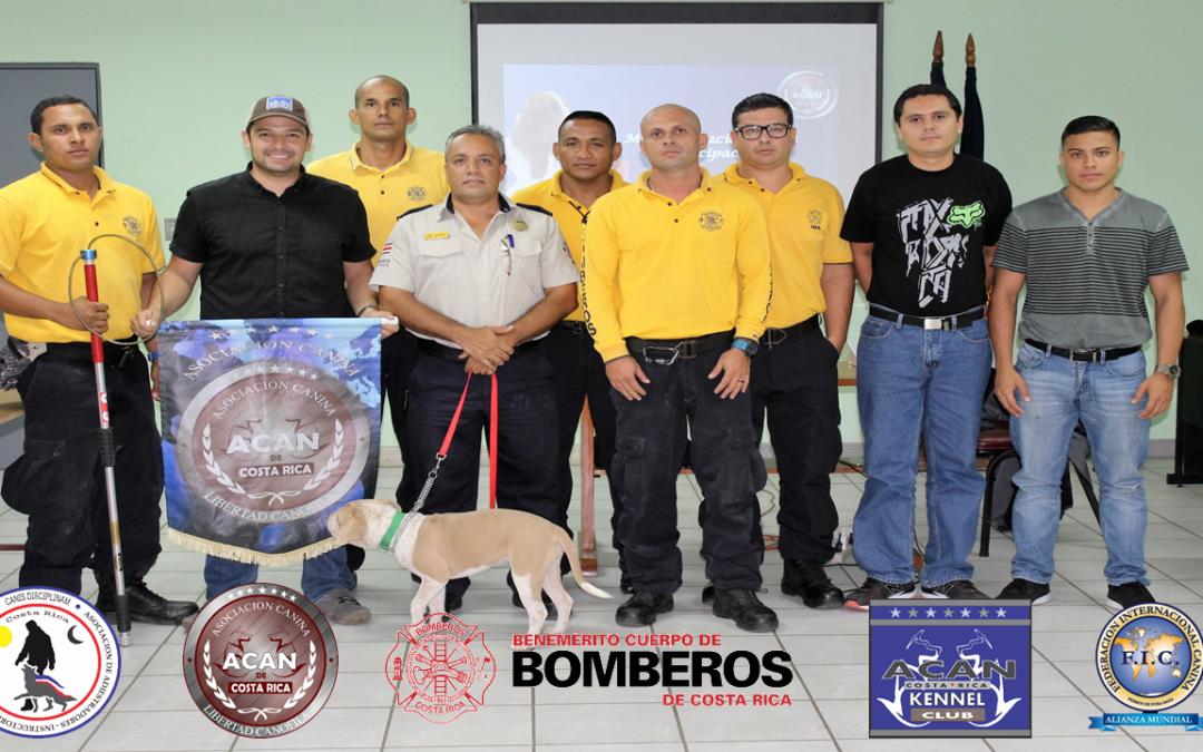 Charlas gratuitas caninas para formación del Benemérito Cuerpo de Bomberos Voluntarios de Puntarenas
