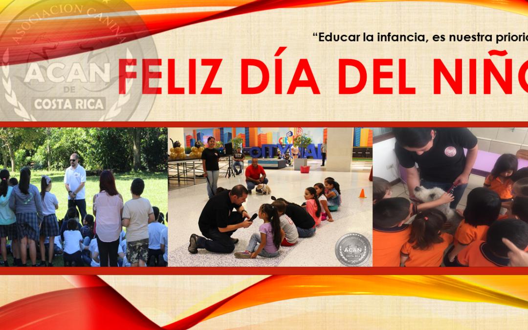 Celebrando el día del niño costarricense