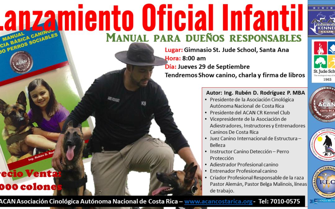 Manual de Obediencia Básica Canina, primer libro costarricense en temas de entrenamiento canino profesional