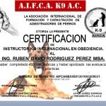 Cert. Instructor Canino Ruben Rodriguez
